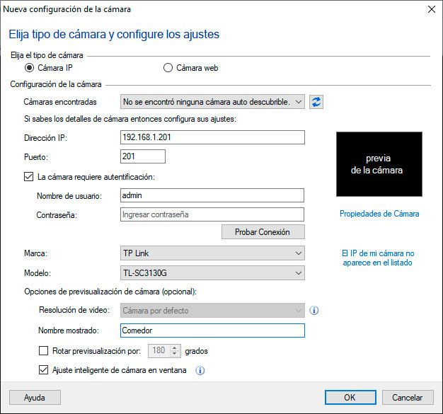 ipviewer configurar camara