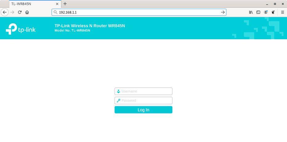 pagina login router